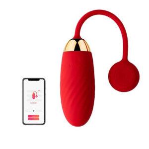 Svakom Ella APP Controlled Silicone Vibrating Egg  Red