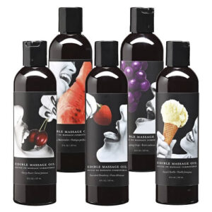Earthly Body Edible Massage Oil - Strawberry